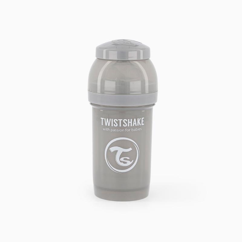 Twistshake biberon anti-colico gris 180ml-Farmacia Olmos