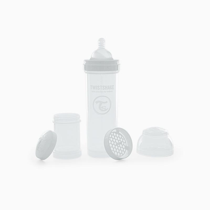 Twistshake biberon anti-colico  blanco 260ml-Farmacia Olmos