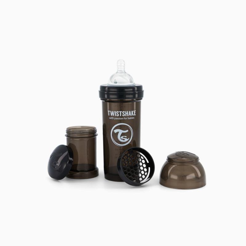 Twistshake biberon anti-colicos negro 260ml- Farmacia Olmos