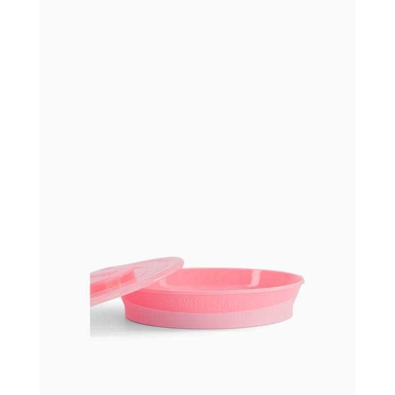 Twistshake plato rosa +6m-Farmacia Olmos