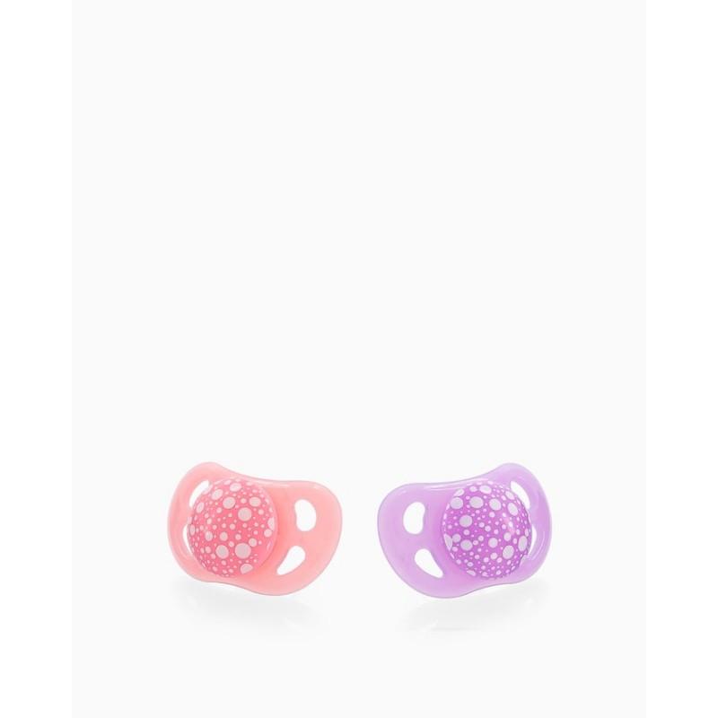 Twistshake 2 chupetes rosa morado +6m-Farmacia Olmos