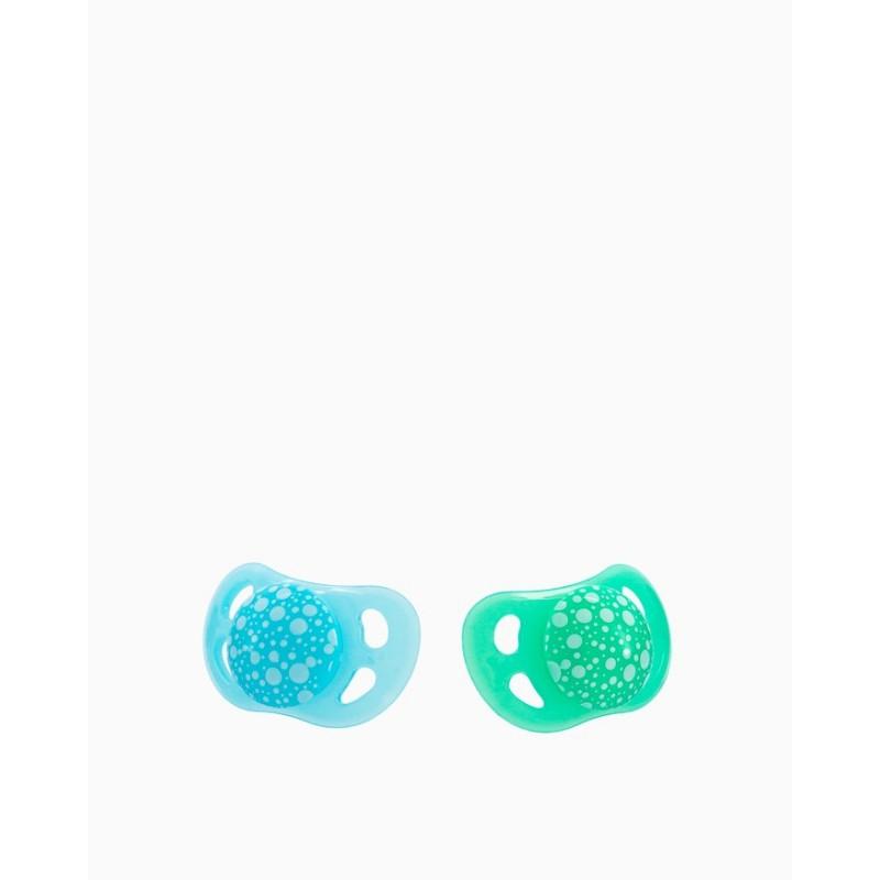Twistshake 2 chupetes azul verde +6m-Farmacia Olmos