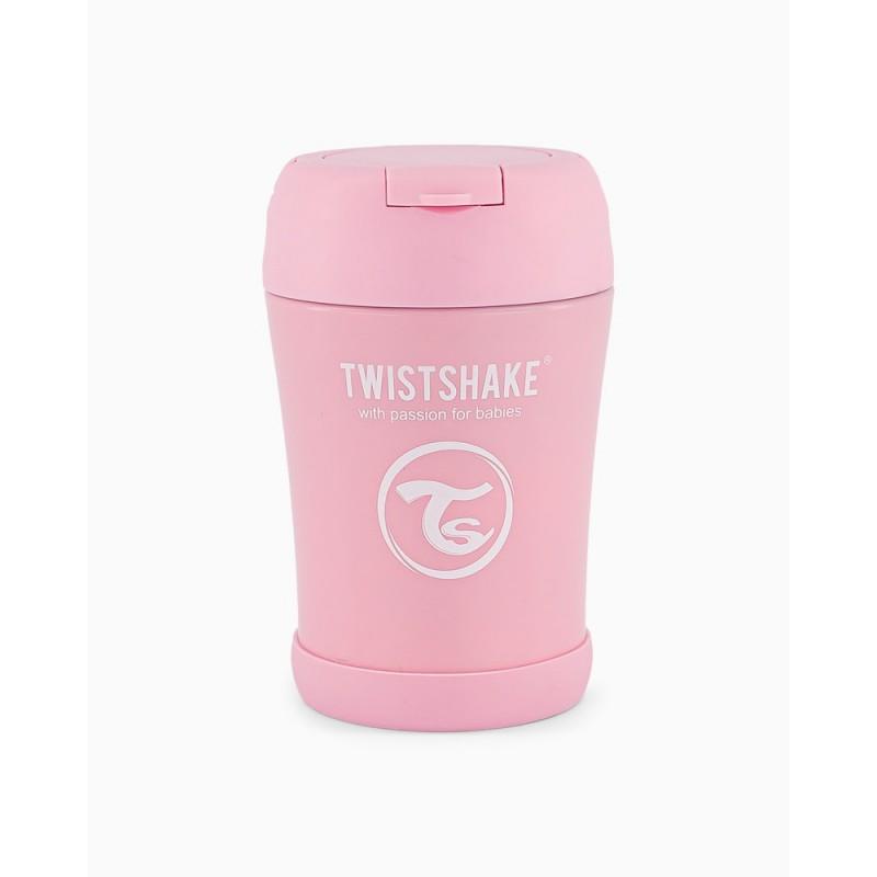 Twistshake food container rosa 350ml- Farmacia Olmos