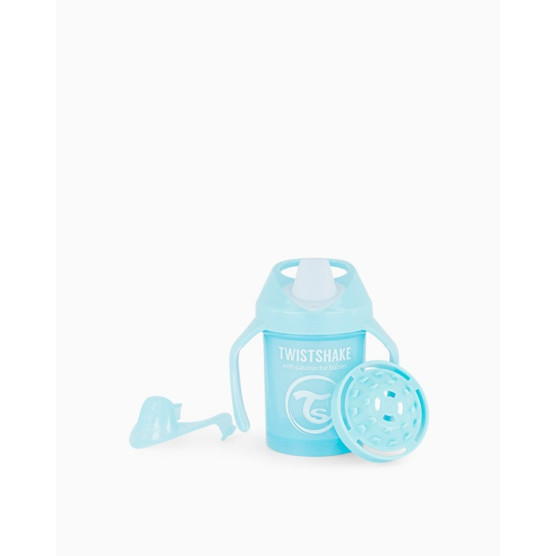 Twistshake taza azul +4m 230ml- Farmacia Olmos