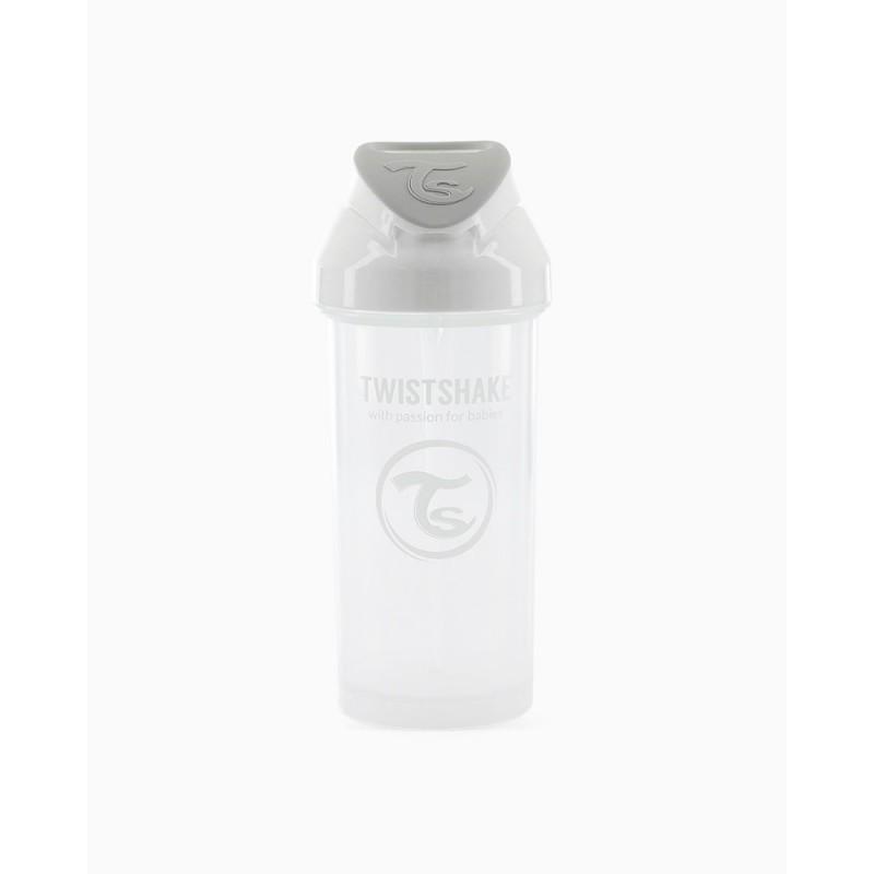 Twistshake straw cup blanco +6m 360ml-Farmacia Olmos