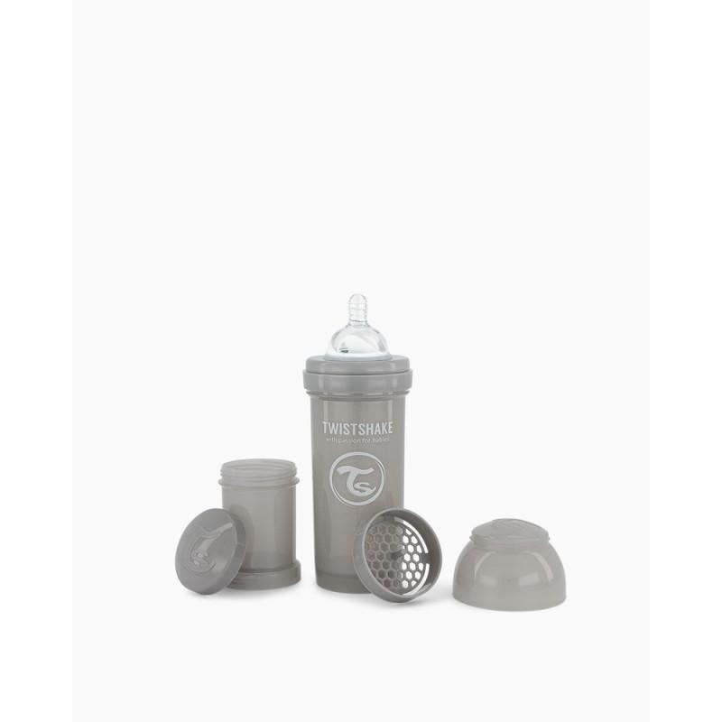 Twistshake biberon anti-colico gris 260ml- Farmacia Olmos