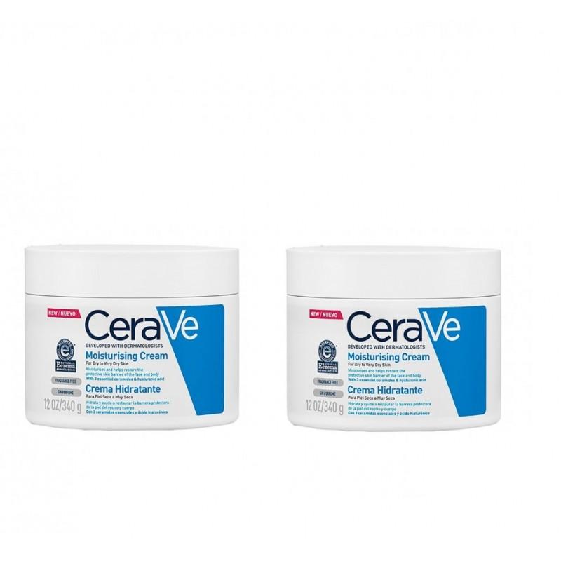 Cerave crema hidratante piel seca y muy seca 340g duplo-farmacia Olmos