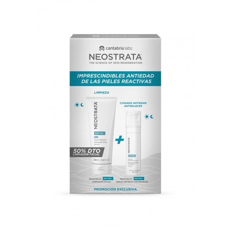 Neostrata Restore Pack antiedad pieles raactivas. Farmacia Olmos.