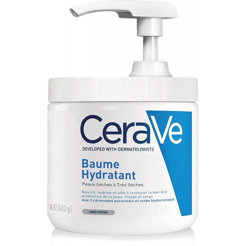 Cerave crema hidratante piel seca y muy seca con dosificador 454g-Farmacia Olmos