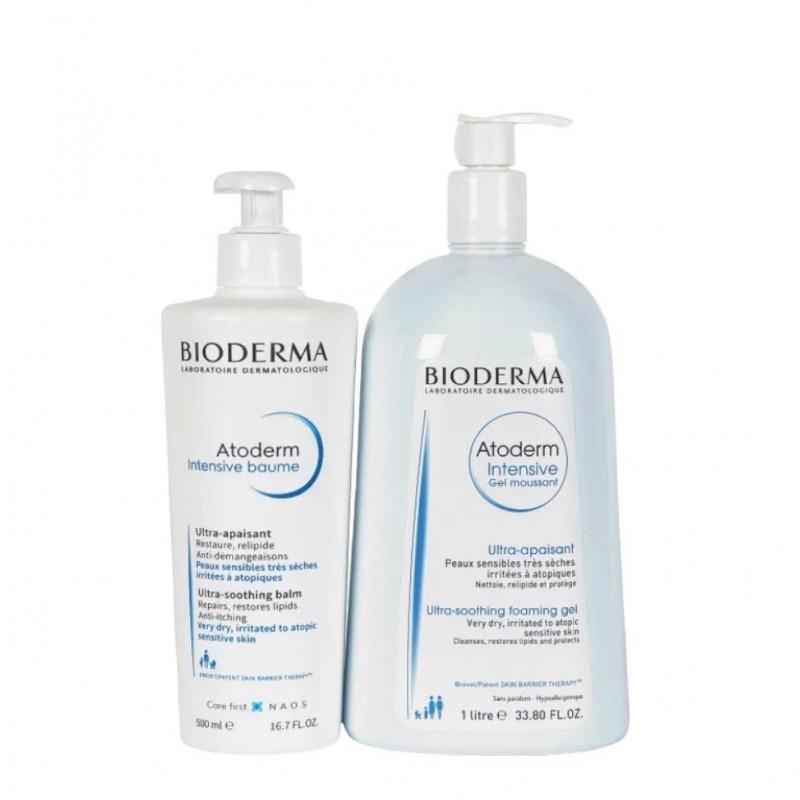 Bioderma Atoderm pack Intensive baume+Gel mouusant- Farmacia Olmos