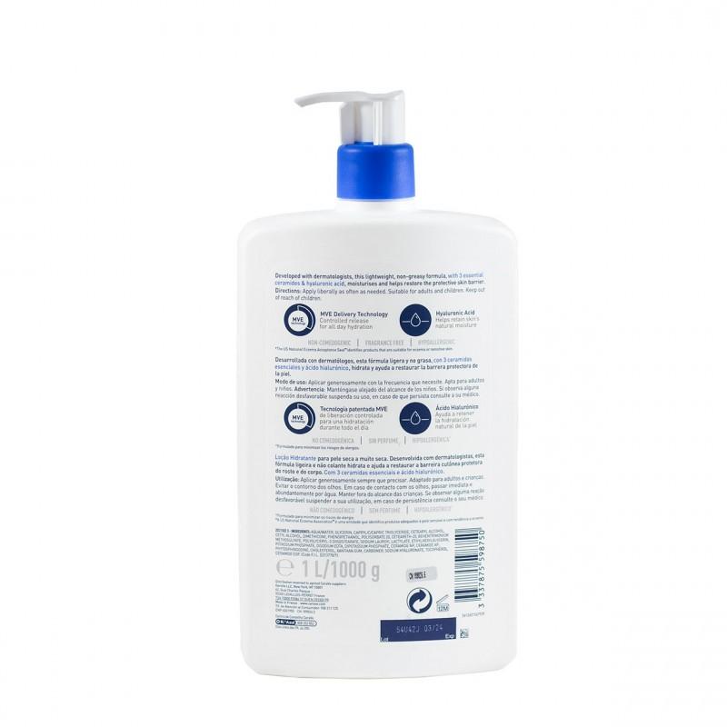 Cerave locion hidratante piel seca a muy seca 1l-Farmacia Olmos